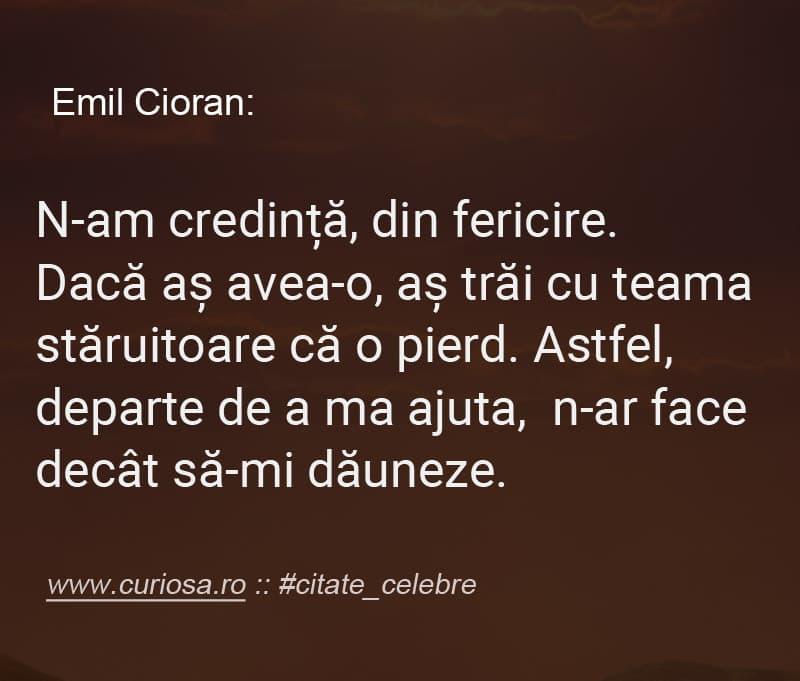 Emil Cioran despre Dumnezeu credinta