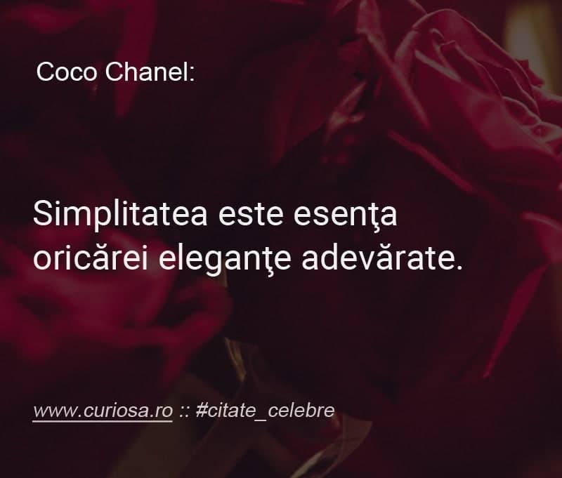 citat coco chanel simplitate elenganta