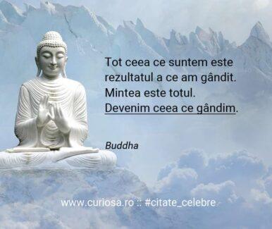 citate suntem ceea ce gandim buddha