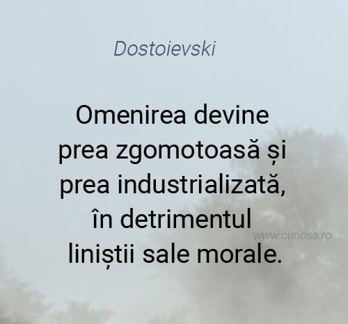 citat dostoievski despre omenire morala